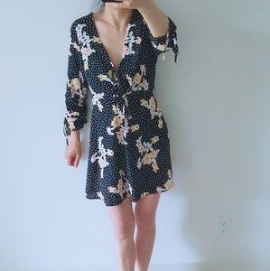 Topshop Black/ White polka dots dress